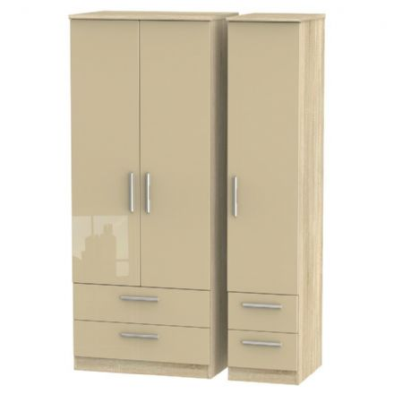 Knightsbridge Tall Triple 2 Drawer + Drawer Robe